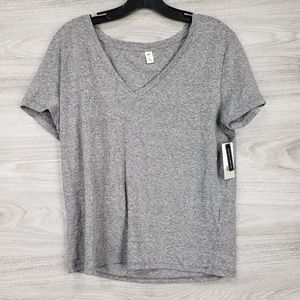 Grey V neck Tee